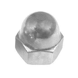 #8-32 X 5/16 STEEL ACORN CAP NUT - NICKEL