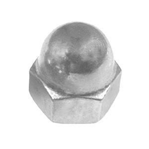 #10-24 X 3/8 STEEL ACORN CAP NUT - NICKEL