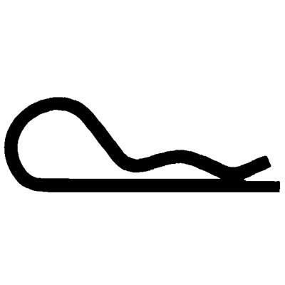 HAIR PIN COTTER .080 - 1 9/16 ZINC