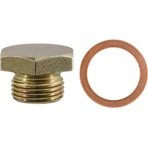 OIL DRAIN PLUG W/GASKET 3/4-16 THREAD ZINC