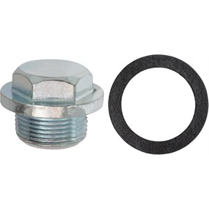 OIL DRAIN PLUG W/GASKET M25-1.5 THREAD ZINC