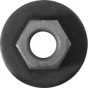 FREE SPINNING WASHER NUT M8-1.25 24MM TOOTHED WASHER