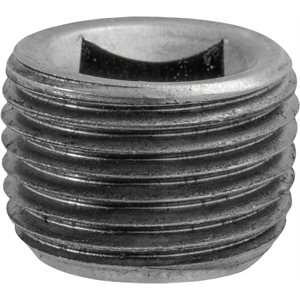 "7/16""Square CounterSunk Pipe Plug"