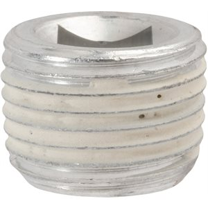 1/2 ALUMINUM PIPE PLUG WITH 3/8 DRIVE