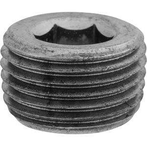 "3/8""Hex CounterSunk Pipe Plug"