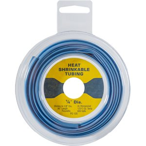 THIN WALL HEAT SHRINK TUBING - 8' DISK - BLUE