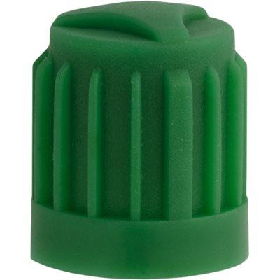 GREEN PLASTIC VALVE CAP W/SEAL FOR NITROGEN
