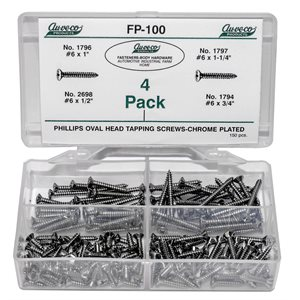 PHILLIPS OVAL HD TAP. SC.CHROME (150 PCS