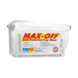 MAX-OFF WIPES - 50% ALCOHOL - 6 PACKS OF 50 WIPES / CASE